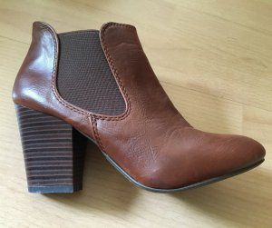 Ankle Boots, cognacbraun