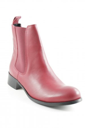 Botas de tobillo rojo oscuro-negro look Street-Style