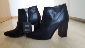 Zara Low boot noir cuir