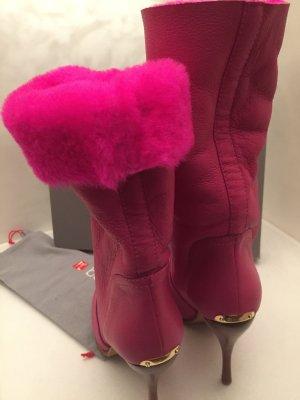 Tronchetto rosso lampone-rosa Pelliccia