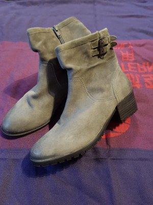 Ankle Boots Gr. 39 grau SPM Echtleder