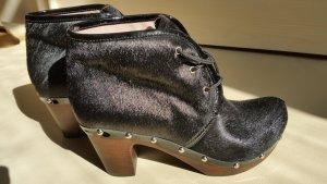 Ankle Boots black fur