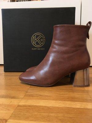 Ankle Boots / Kurt Geiger / Gr. 36 / Cognac / Metall Block Heel
