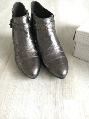 Ankle-Boots metallic Biker-Style