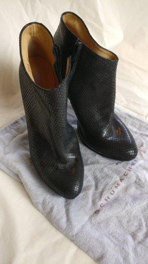 Ankle Boots mit Lederprägung (Schuhmacher)