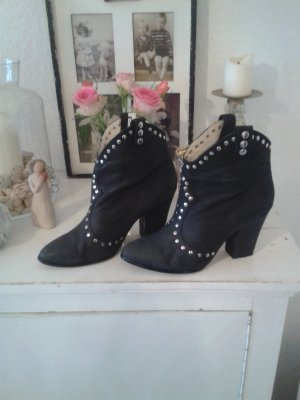 Buffalo Ankle Boots black-silver-colored