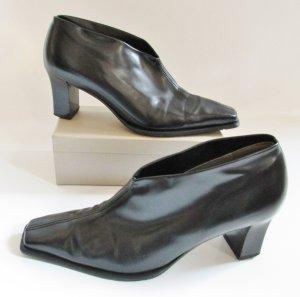 Ankle Boots Peter Kaiser Größe 4 36 37 Schwarz Glatt Spitz Hochfront Pumps Schuhe V-Neck Daisy Edel Glanz