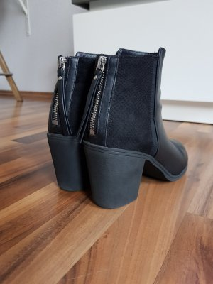 H&M Winter Booties black-silver-colored