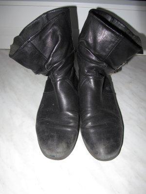 Ankle Boots Schlüpf-Stiefeletten schwarz Leder mit rustic charm gr.36