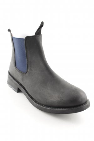 Ankle Boots schwarz-dunkelblau Street-Fashion-Look