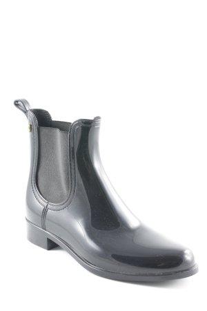 Ankle Boots schwarz Glanz-Optik
