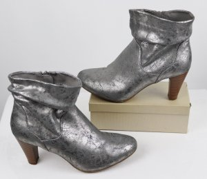 Catwalk Slouch Booties silver-colored-beige imitation leather
