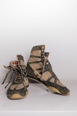 Ankle Boots Sneaker used Look Shoes - Gr. 39 - geschnürt, Jeansschnürsenkel