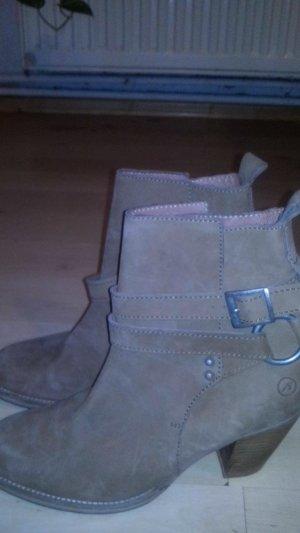Ankle Boots / Stiefelette Gr. 39 Beige / Bronx Neu