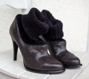 Ankle Boots Stiefeletten Kate Moss, Glam Rock, Strick,
