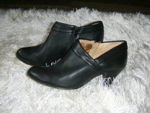 Ankle-Boots, Stiefeletten, Lederschuhe, echtes Leder, schwarz, Buffalo, Gr. 39