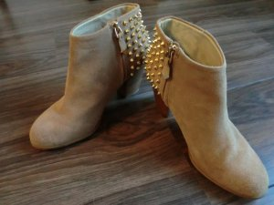 Zara Bottillons beige daim