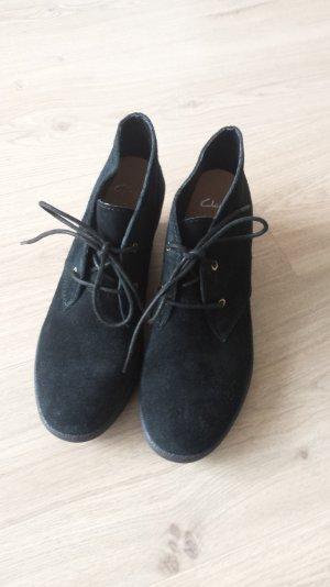 Ankle boots von Clarks Gr 7 schwarz Wildleder
