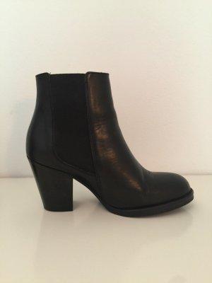 Botas de tobillo negro Cuero