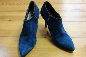 Ankle Boots Wildleder blau schwarz