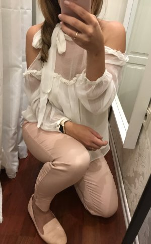 Ankle Cut Hose mit Schlitz in rosa / altrosa / rose elegant blogger wie neu