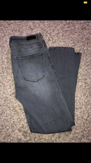 Abercrombie & Fitch High Waist Jeans light grey-grey