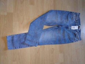 H&M Pantalón de cintura alta azul claro