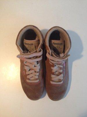 Ankle Sneaker Schnür Klett Retro Oldschool Vintage gold bronze