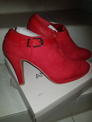 Anna Field Ankle Boots brick red