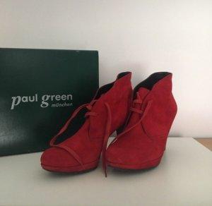Paul Green Stivaletto con plateau rosso