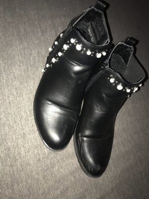 Ankle Boots black-white