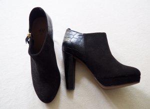 Ankleboots Crocoprint/Wildlederoptik H&M