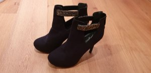 New Look Tacones de plataforma negro-color bronce
