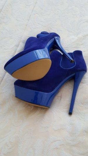 ankleboots in royalblau