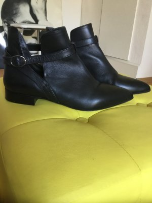 R.E.D. Valentino Cut Out Booties black leather