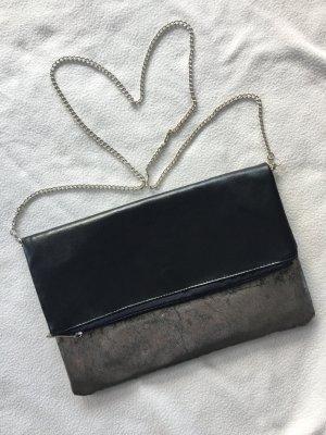 Ann Christine Clurch Tasche schwarz Silber Handtasche