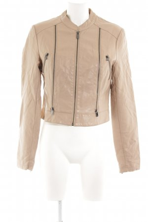 Ann Christine Faux Leather Jacket nude business style