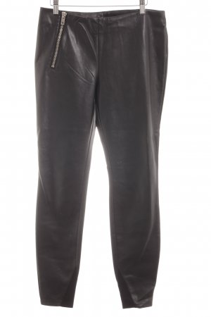 Ann Christine Leather Trousers black casual look