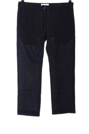Ann Demeulemeester Pantalon 3/4 noir style décontracté