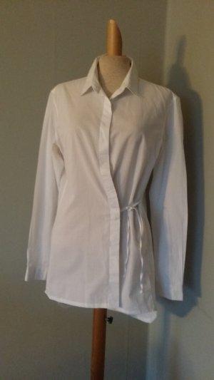 ANN DEMEULEMEESTER asymmetrische bluse top shirt weiss gr.38