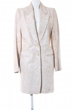Ann Demeulemeester Leather Coat white-light brown extravagant style