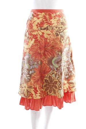 ANN LLEWELLYN Midirock florales Muster Boho-Look
