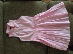 Ann Taylor, ärmelloses Hemdkleid, Faltenrock, rosa