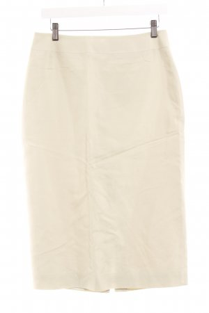 Ann Taylor Pencil Skirt pale yellow-cream business style