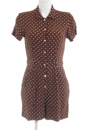 Ann Taylor Jumpsuit brown-cream spot pattern casual look