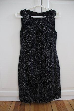 Ann Taylor Vestido de cóctel negro-blanco
