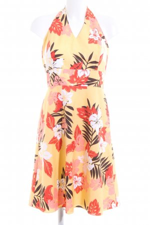 Ann Taylor Halter Dress flower pattern casual look