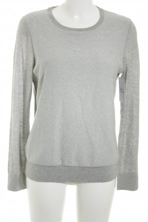 Ann Taylor Crewneck Sweater light grey classic style