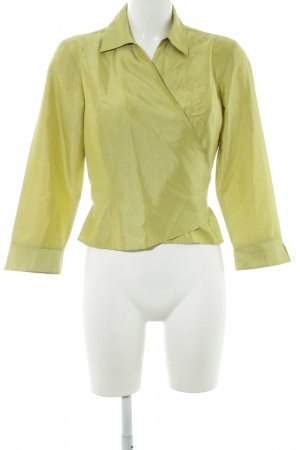 Ann Taylor Silk Blouse lime yellow elegant