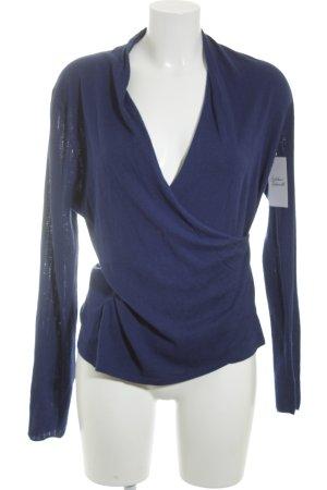 Ann Taylor Strickpullover blau Wickel-Look